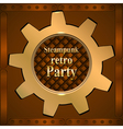 Invitation flyer on retro steampunk party vector