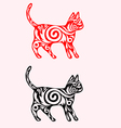 Cat ornate vector