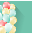 Balloons soft background vector