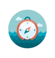 Compass flat icon vector