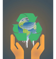 Hand holding earth globe 2 vector