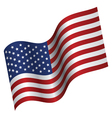 American flag proudly waving vector