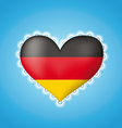 Heart shape flag of germany vector