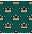 Seamless pattern of a golden crowns vector