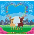 Cute dogs in love vector