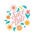 Flower wedding invitation card save the date vector