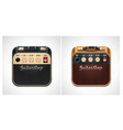 Guitar amplifier square icon vector