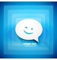 Blue speech bubble background vector
