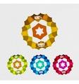 Transparent badges colorful set vector