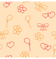 Pink seamless pattern of childish picture vector