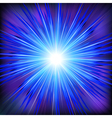 Blue light rays with star vector