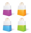 Paper bag in two color vector