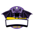 Bat baseball mascot vector