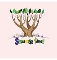 Stylized summer tree vector