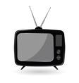 Tv old in black color vector