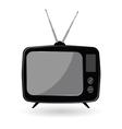 Tv old in black color vector