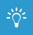 Idea icon white on the blue background vector
