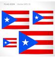 Puerto rico flag template vector