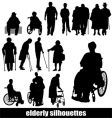 Elderly silhouettes vector