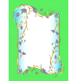 Bright green background floral frame vector
