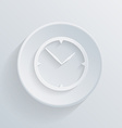 Paper circle flat icon with a shadow clock vector