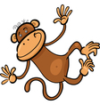 Cartoon of funny monkey vector