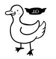 Bird design vector