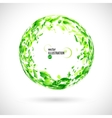 Abstract round frame of green watercolor spots vector