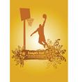 Basketball dunk poster vector