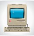 retro computer xxl icon vector