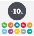 10 percent discount sign icon sale symbol vector
