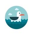 Seagull flat icon vector
