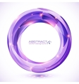 Purple crystal abstract round frame vector