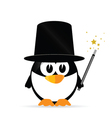 Sweet and cute penguin vector