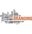 Word cloud branding vector