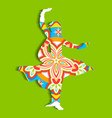 Indian classical dancer vector