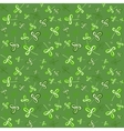 Dark green seamless clover pattern vector