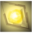Abstract yellow background with light vector