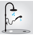Shower in bathroom eps10 vector