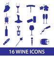 Wine icon set eps10 vector