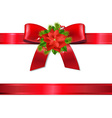 Xmas red ribbon and bow vector