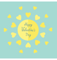 Sun with hearts in flat design valentines day vector