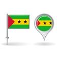 Sao tome and principe pin icon map pointer flag vector