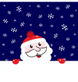 Santa blank banner vector