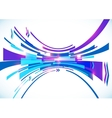 Blue perspective bow abstract background vector