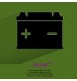 Car battery flat modern web button with long vector