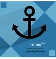 Anchor flat modern web design on a flat geometric vector