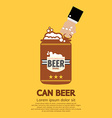 Canned beer graphic vector