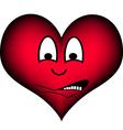 Heart afraid vector