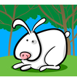 Cartoon of white bunny vector